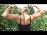 Sexy Female And Sweaty Flexing Her Sexy Muscle