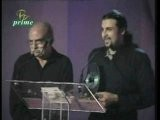 Salman Ahmad Of Junoon Accepting An Award On Behalf Of Nazia Hassan