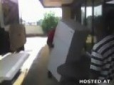 Monster Of A Man Lifts A Refrigerator