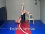 Single Leg Hip Bridge - 01