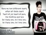 Wonder Girls - 2 Different Tears English Lyrics