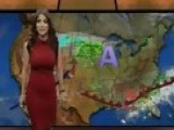 Weather Girl Jackie Guerrido In Red Dress