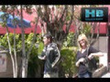 Antonio Banderas And Melanie Griffith In Beverly Hills