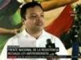Resistencia Hondure&ntilde A Rechaza Ley Antiterrorista